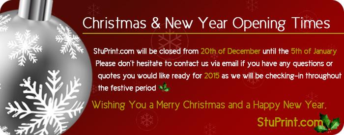 Christmas Printing Times