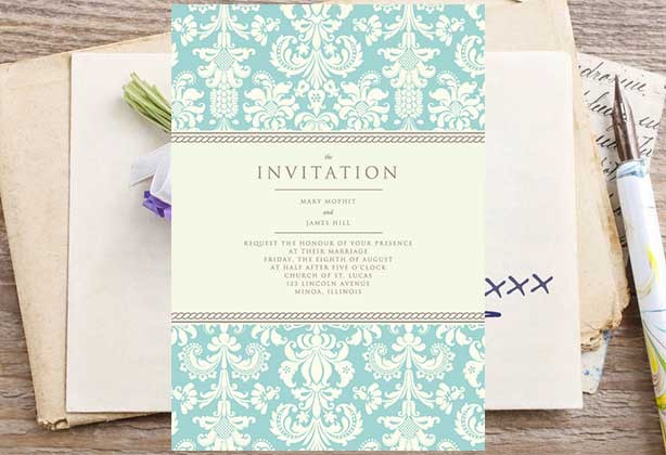 Invitation and card printing wedding invitations stuprint wedding invitation design with floral design stopboris Choice Image