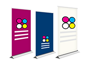 Coloured icon for roller banners