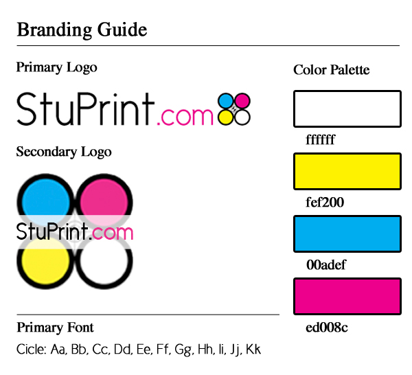 stuprint.com branding document