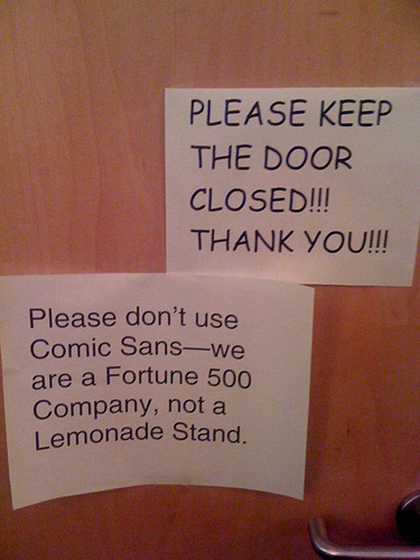 lemonade stand vs fortune 500 company font